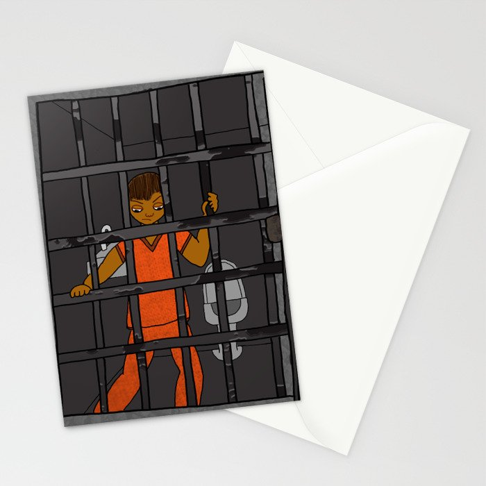 Anxiety: Trapped in a Cell Stationery Cards