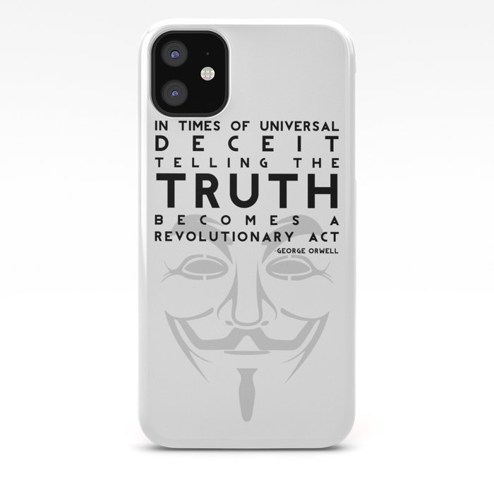 Truth Revolution V For Vendetta Iphone Case By
