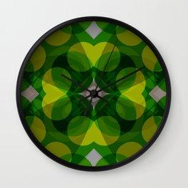 Green Mantra Wall Clock