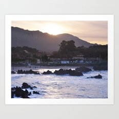 Sunset Over the Mountain Art Print
