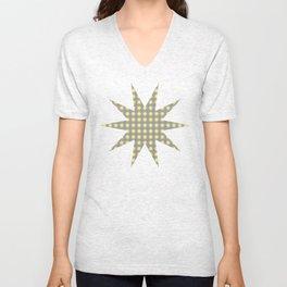 Yellow star pattern Unisex V-Neck