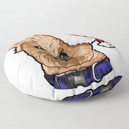 Irish Soft Coated Wheaten Terrier Dog Christmas Hat Floor Pillow