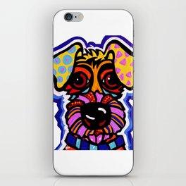 Rover Terrier Dog Airedale Wheaton Lakeland Kerry Schnauzer Fox Puppy Pet Animal iPhone Skin