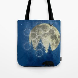 the night forest. Tote Bag