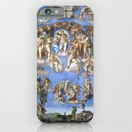 "Michelangelo ""The Last Judgment"" iPhone Case"