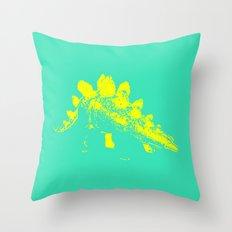 Vintage Toy Dinosaur  |  Stegosaurus Throw Pillow