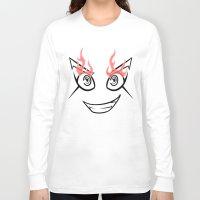 dangan ronpa Long Sleeve T-shirts featuring Dangan Ronpa Faces by AMC Art