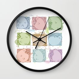 Blobby Cats Wall Clock