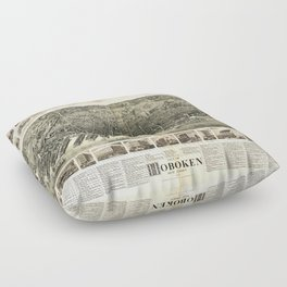 City of Hoboken, New Jersey (1904) Floor Pillow