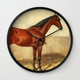 Vintage Stabled Horse Illustration (1905) Wall Clock