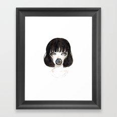 Camera Girl Framed Art Print