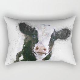 Holstein Cow Watercolor Rectangular Pillow