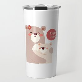 Mutual snatched bear mother and child Travel Mug