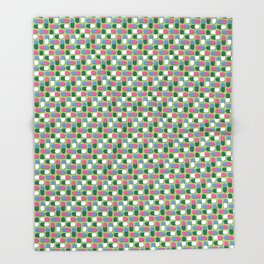 Colorful pills Throw Blanket