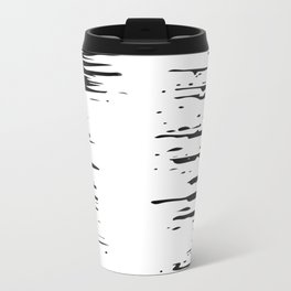 Splash Black and White Travel Mug