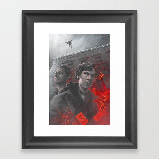 """"""" _ _ _ _ LOCK """" Framed Art Print"""