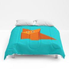 Cute Origami Fox Comforters