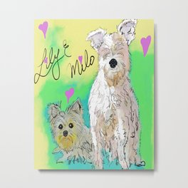 Lily & Milo Metal Print