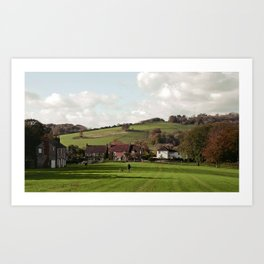 Nepcote Green, Findon, West Sussex Art Print