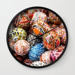 Handpainted Eggs Wall Clock