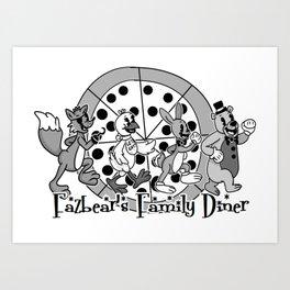 Fazbear's Family Diner Logo Art Print