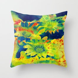 bright flowers  https://society6.com/clemm?promo=X9B3VVZDM7J6 Throw Pillow