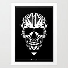 MUSICAL SKULL Art Print