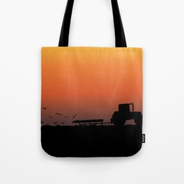 Ploughing the Field Tote Bag