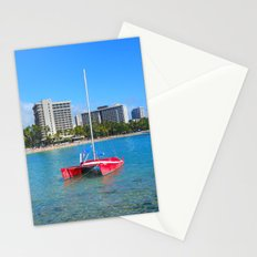Oahu: Little Red Boat Stationery Cards