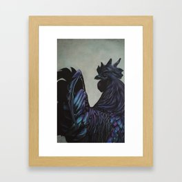 Ayam Cemani Framed Art Print