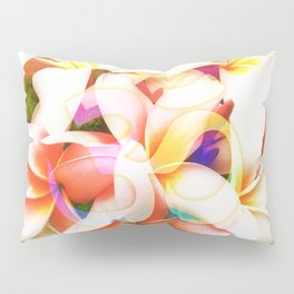 Yoga Om Frangipani Pagoda Flower Pillow Sham