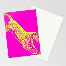 Tiger Running Stationery Cards