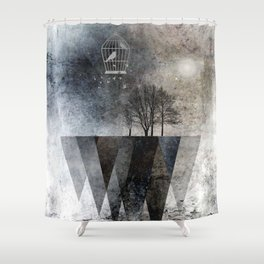 TREES over MAGIC MOUNTAINS I Shower Curtain