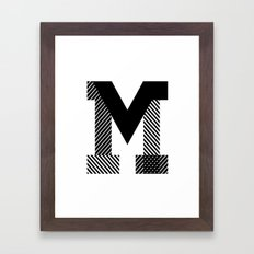 THE LETTER M Framed Art Print