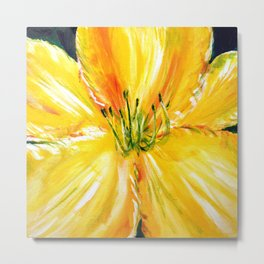 Yellow Daylily Metal Print
