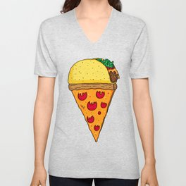 Taco Pizza Cone Unisex V-Neck