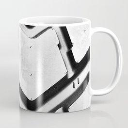 Black rubber tire background Coffee Mug