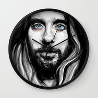 jared leto Wall Clocks featuring Jared Leto by KlarEm