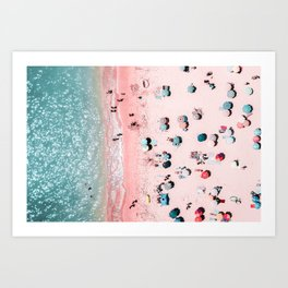 Ocean Print, Beach Print, Wall Decor, Aerial Beach Print, Beach Photography, Bondi Beach Print Art Print