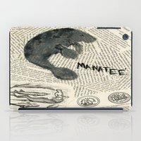 manatee iPad Cases featuring Manatee by Cassidy Tebeau