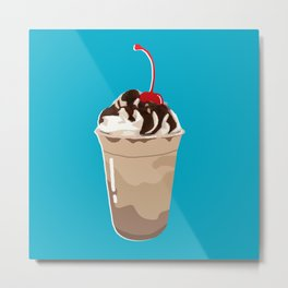 THE FOOD - Frappé/Coffee Metal Print