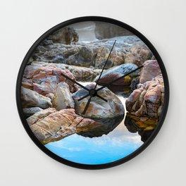 Tidal Pool - Colorful Seashore at Onrus Beach Wall Clock