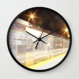 C-Train at night 1 Wall Clock