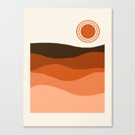 Choice - retro 70s style vibes sunset mountains desert ocean minimalist decor hipster 1970s Canvas Print