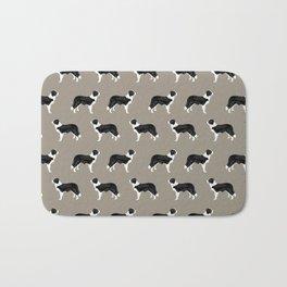 Border Collie dog pattern pet friendly dog art dog lover gifts with favorite dog breeds Bath Mat
