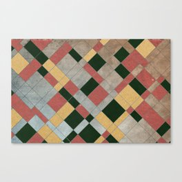 Tiling Mosaic Canvas Print