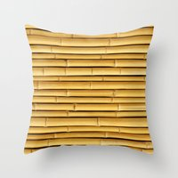 bamboo Throw Pillows featuring Bamboo by Patterns and Textures