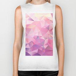 polygonal pink pattern Biker Tank
