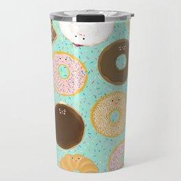 Donuts! Cute and yummy donut friends. Travel Mug