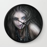 into the wild Wall Clocks featuring Wild by Justin Gedak